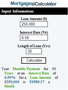 u s mortgage calculator