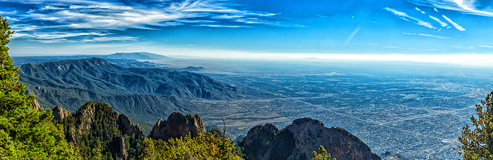 Aerial View of Albuquerque, New Mexico From the Sandia Mountains.