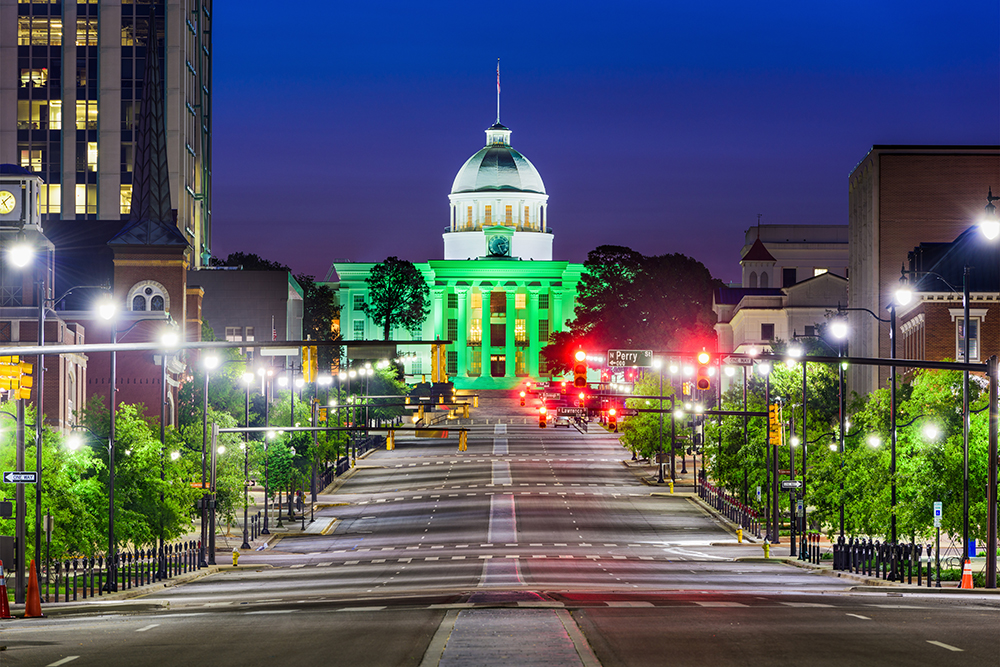 Alabama State Capitol Building in Montgomery.