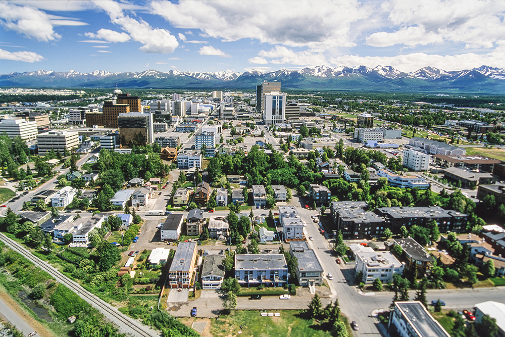 Aerial View of Anchorage.