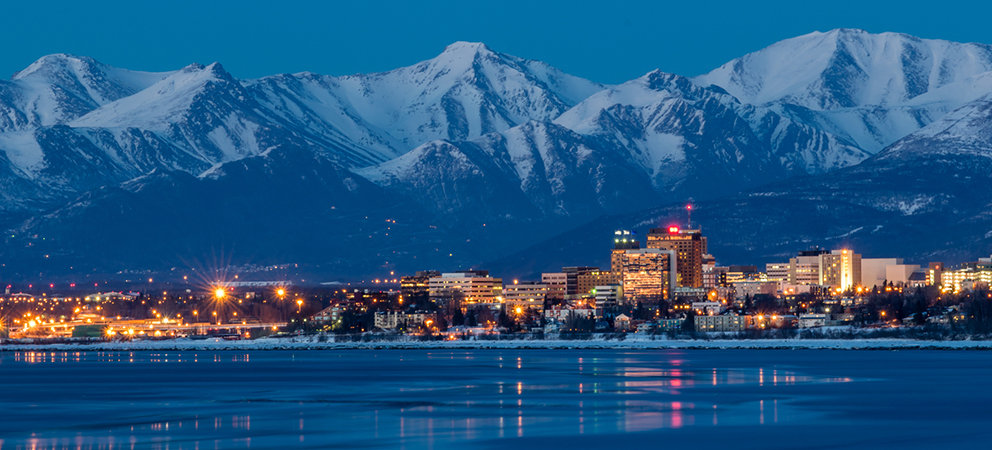 Anchorage Skyline at Night.