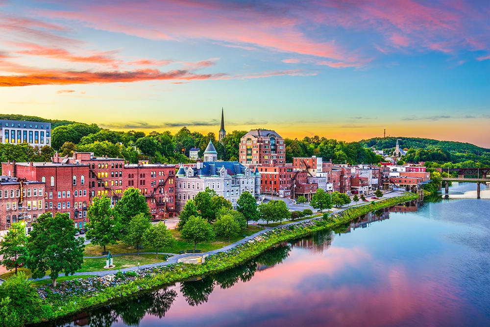 Augusta, Maine Skyline.