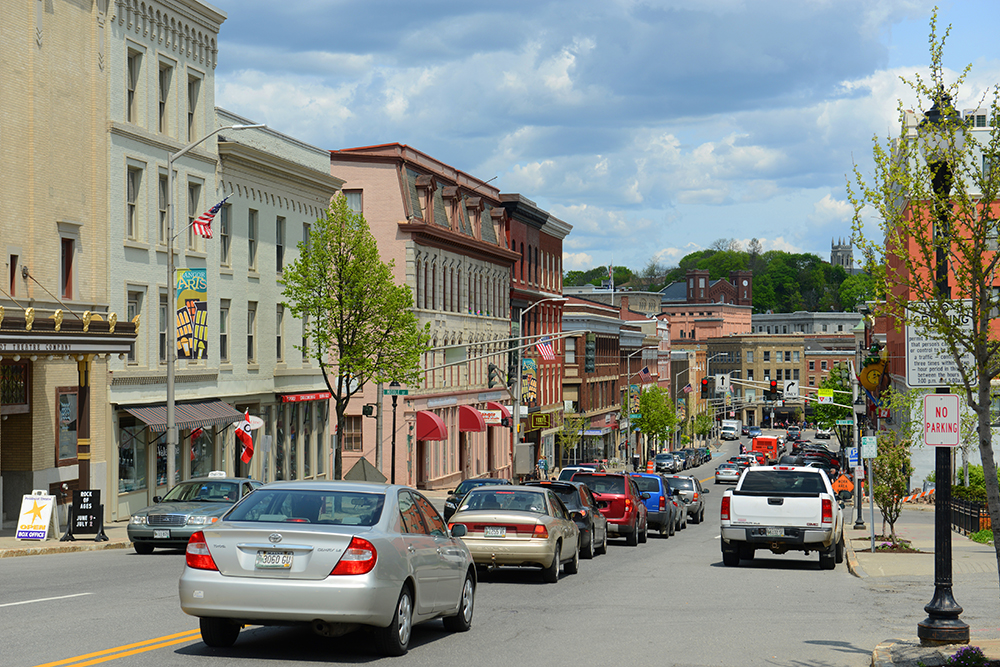 Bangor, Maine Skyline.
