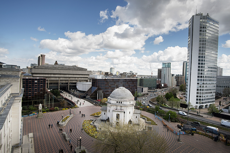 Centenary Square in Birmingham.