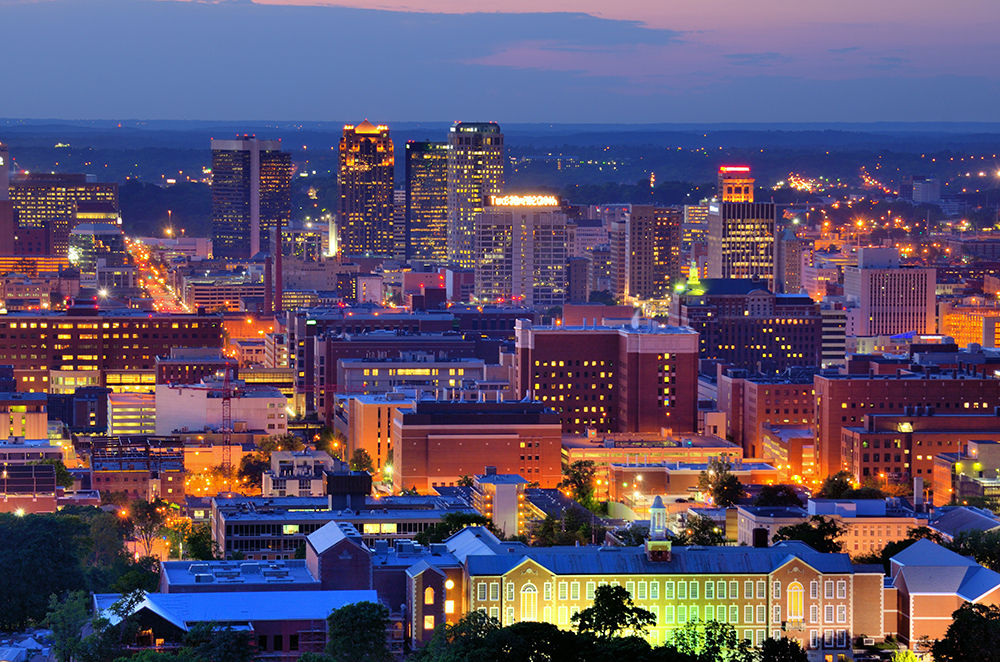 Birmingham, Alabama Skyline.