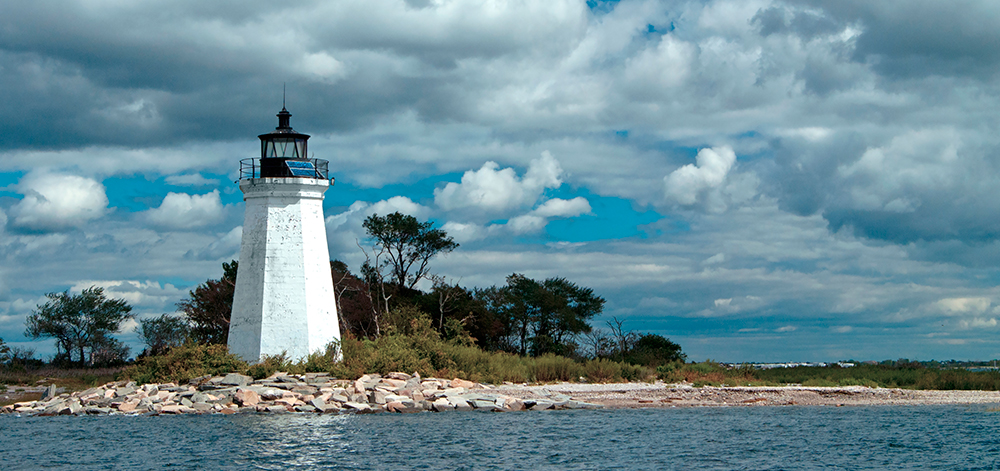 Black Rock Harbor Lighthouse in Bridgeport, Connecticut.