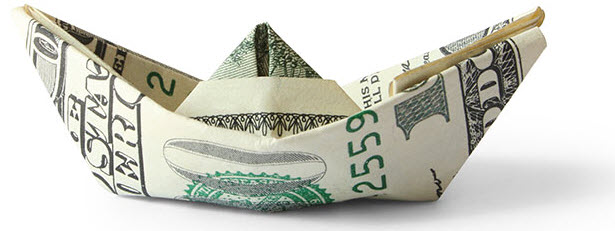 Origami Boat Built One Hundred Dollar Stock Photo (Edit Now ... | 231x615