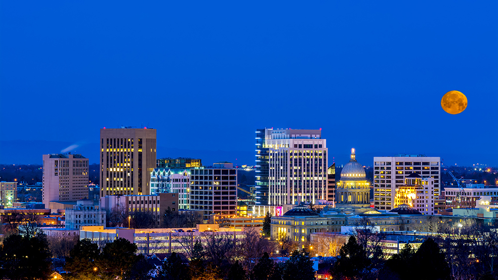 Boise Skyline at Night.
