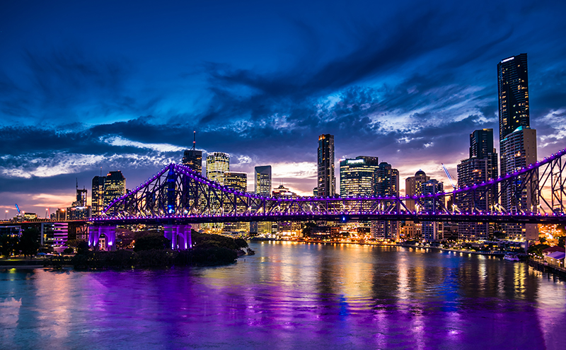 Brisbane's Story Bride at Night.