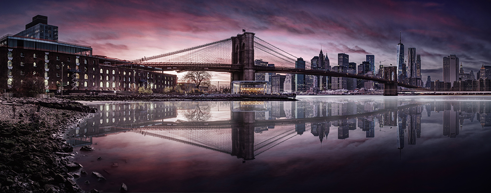 Brooklyn Bridge with a Gotham City Theme.