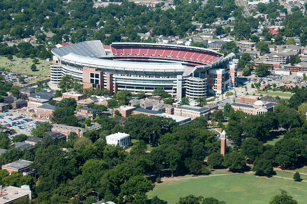 The University of Alabama's Bryant-Denny Stadium.