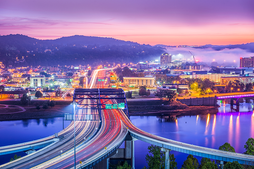 Charleston, WV at Dawn.