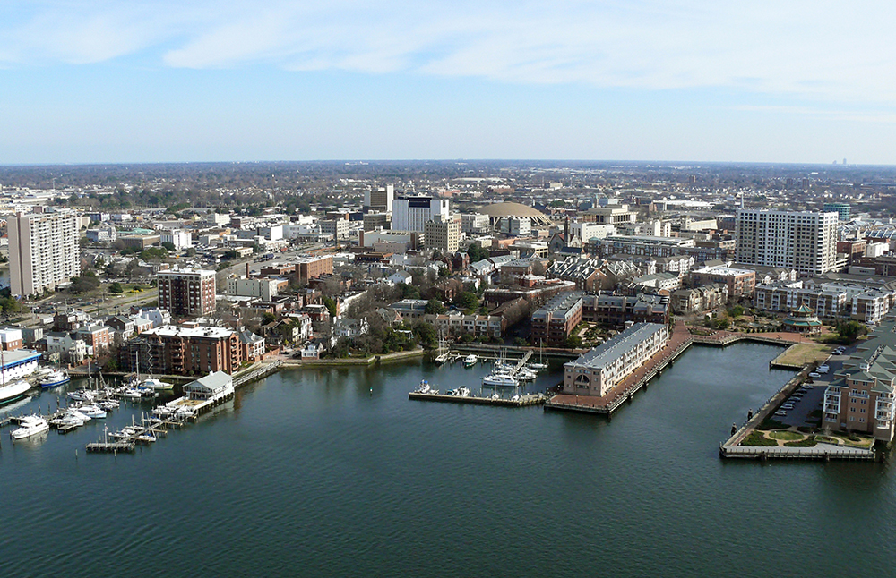 Aerial View of Chesapeake, Virginia.