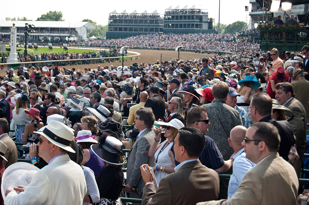 Grandstand Crowd at the Kentucky Derby.