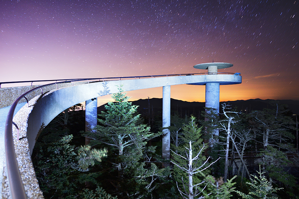 Clingman's Dome Observation Deck.