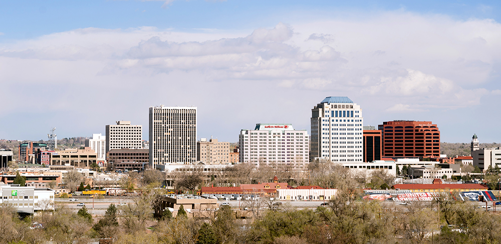 Colorado Springs Skyline.