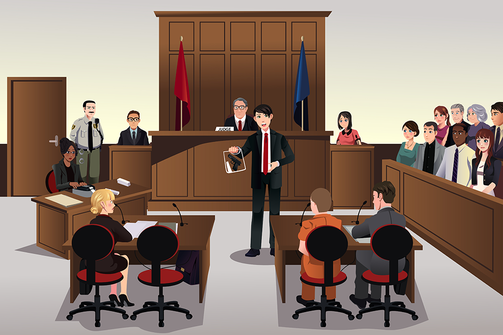Courtroom Scene.