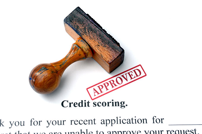 approved credit app with stamp