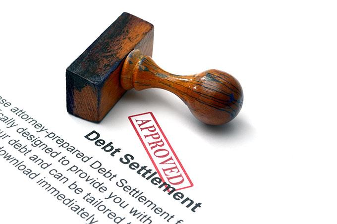 debt settlement stamped