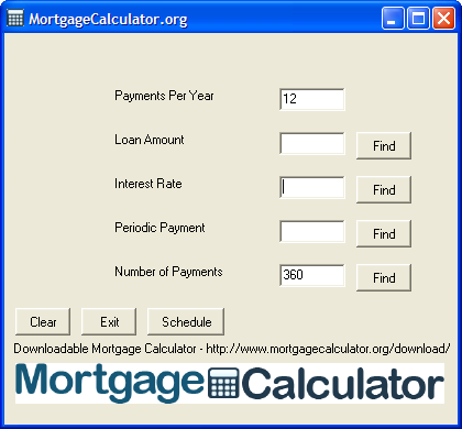 Downloadable Free Mortgage Calculator Tool
