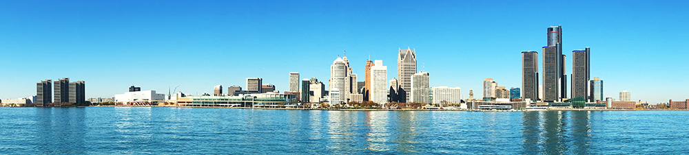 Detroit Skyline Panorama.