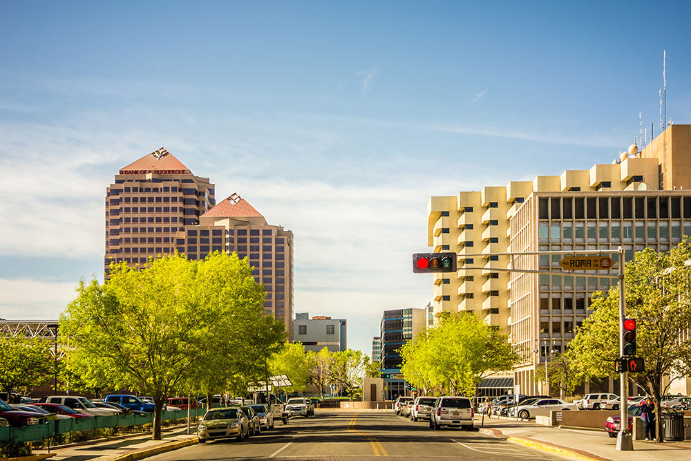 Downtown Albuquerque, New Mexico.