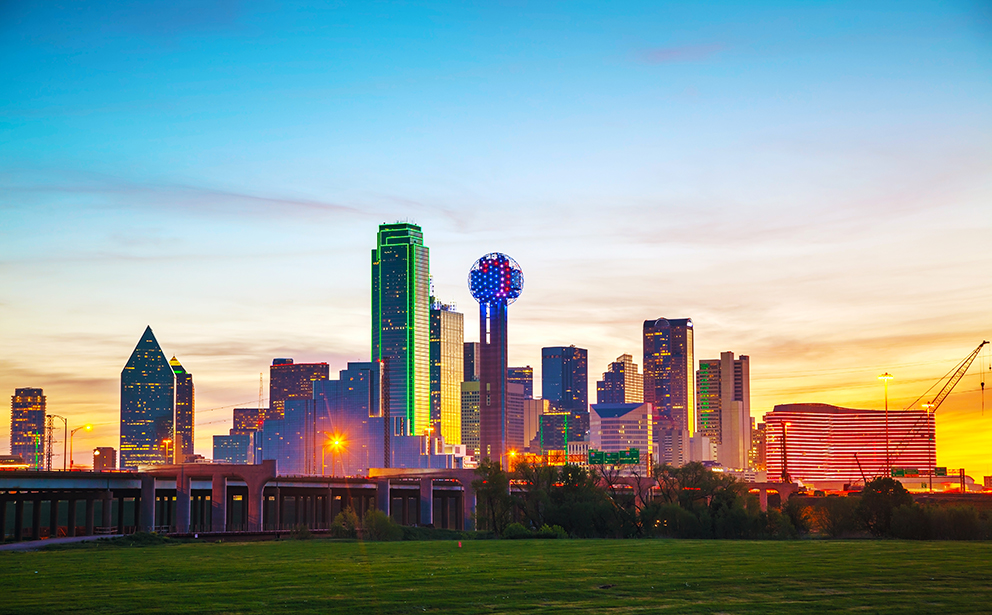 Sunset Over Downtown Dallas.