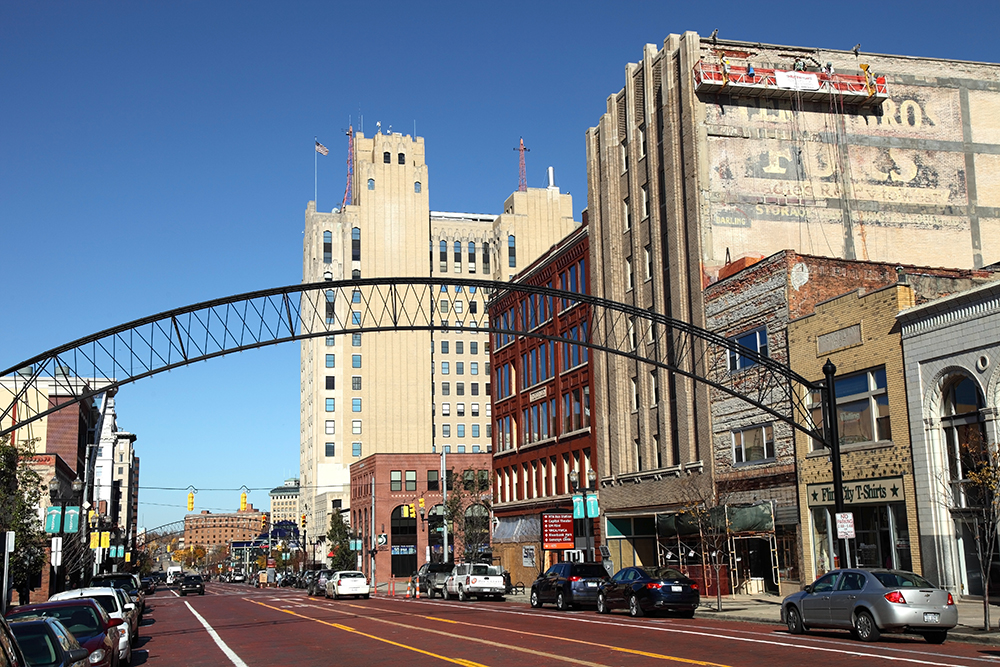 Downtown Flint, Michigan.