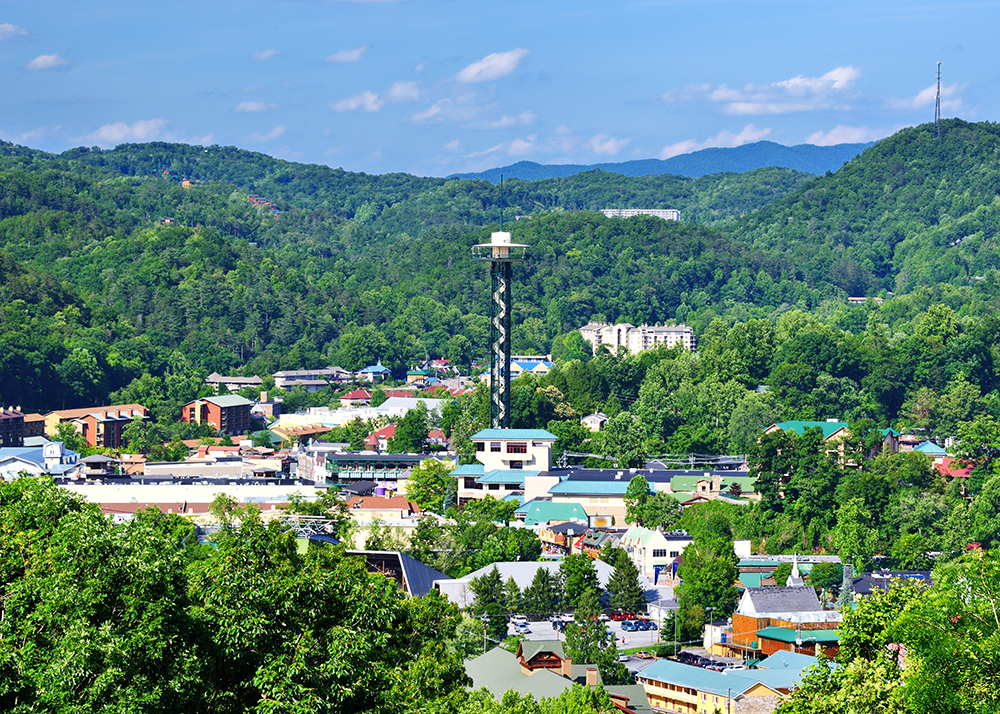 Downtown Gatlingburg.