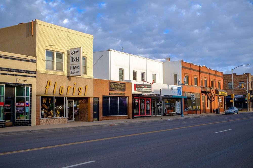Downtown Laramie.