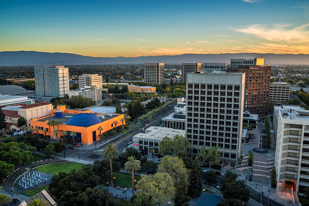 Downtown San Jose, California.