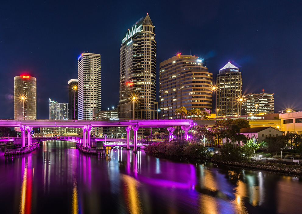 Downtown Tampa at Night.