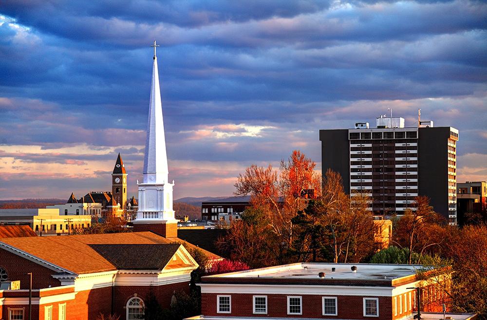 Fayetteville, AR Skyline.