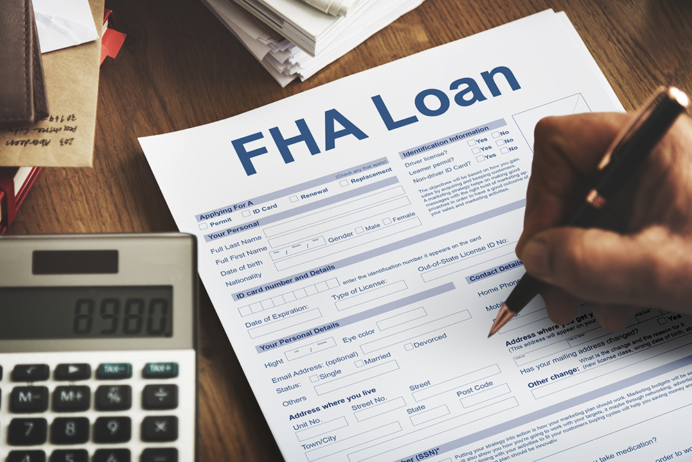 FHA loan document.
