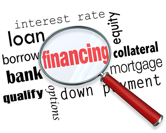financing magnified in a word cloud
