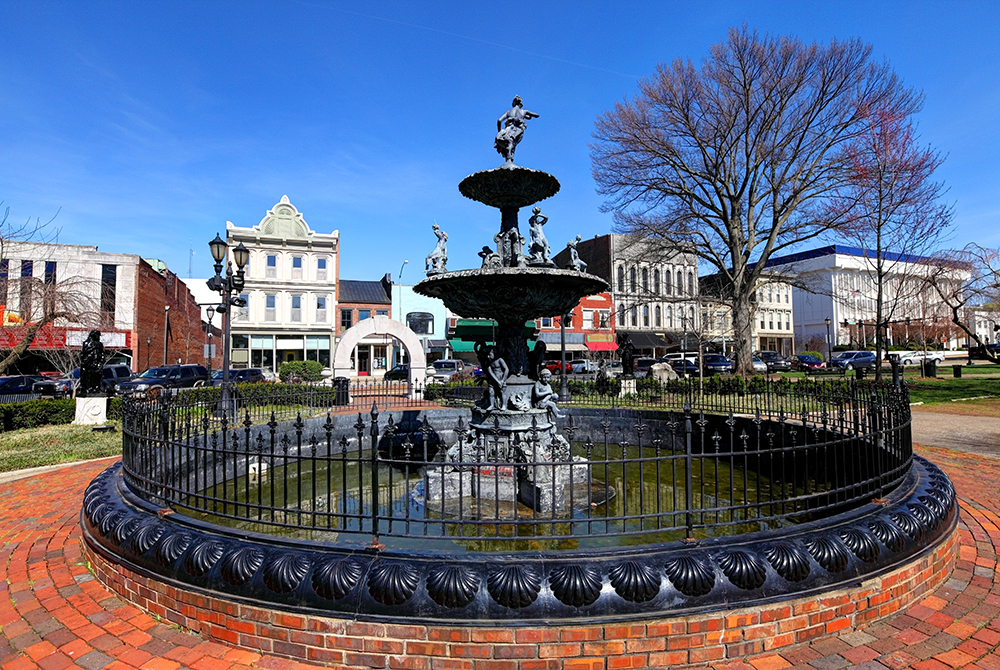 Fountain Square in Downtown Bowling Green, KY.