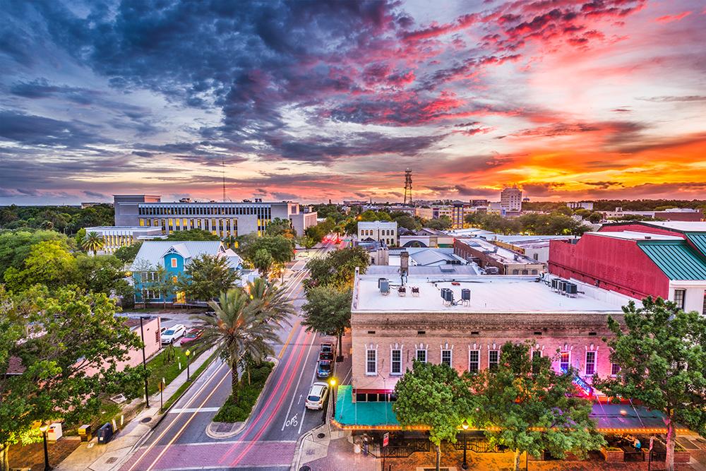 Downtown Gainesville, FL.