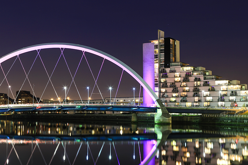The Clyde Arc Bridge in Glasgow.