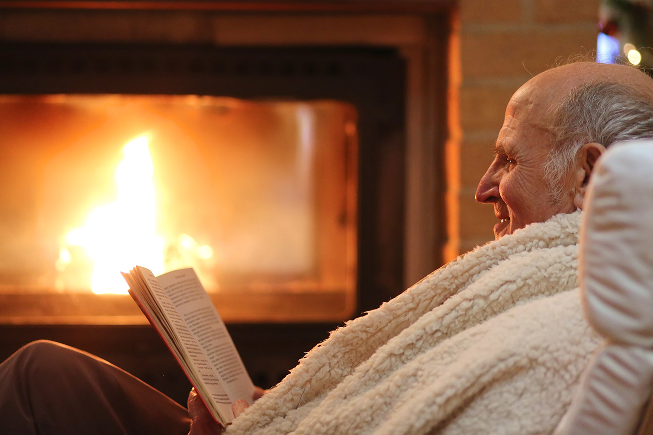 Grandfather Reading at Home.