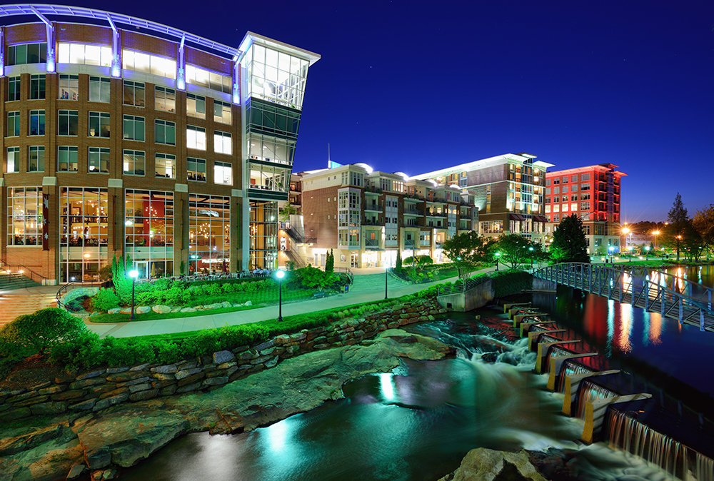 Greenville at Night.