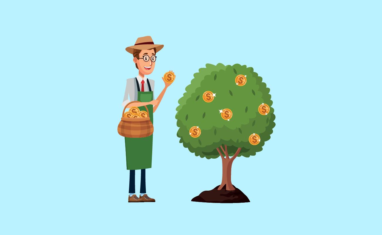 Harvesting for money tree.