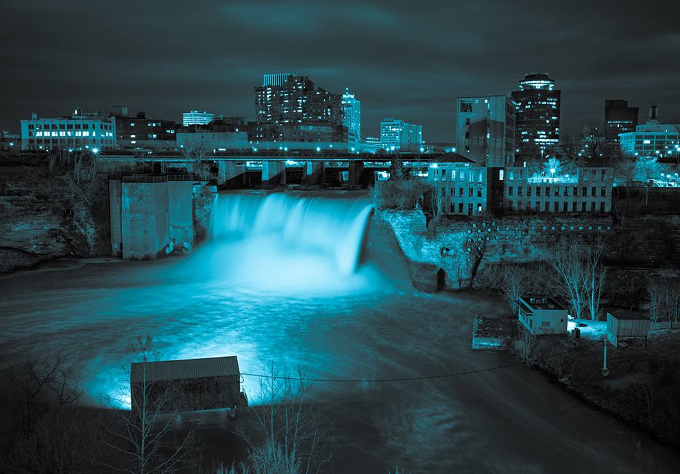 High Falls in Rochester, New York.