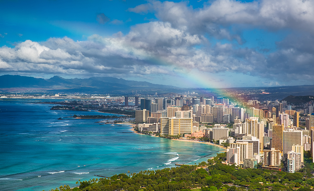 Rainbow Over Honolulu.