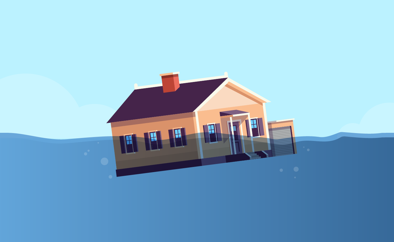 House under water.