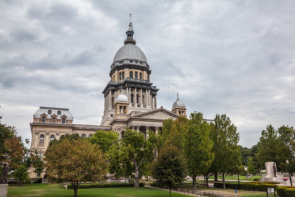 Illinois State House and Capitol Building in Springfield.