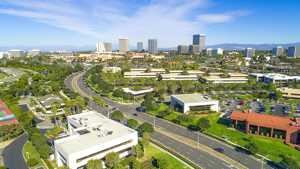 Irvine, CA Skyline.