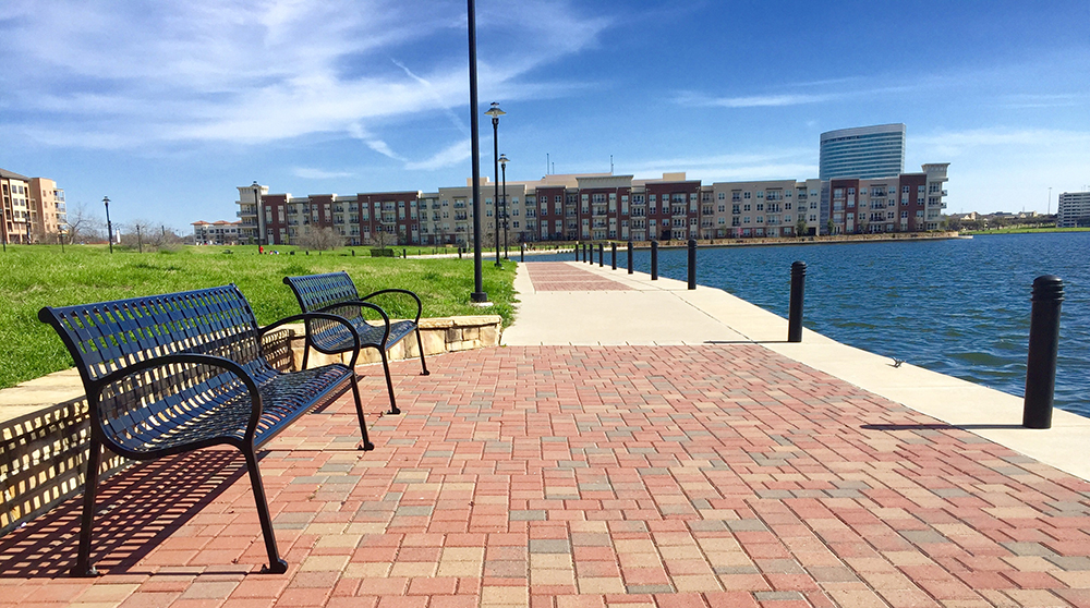 Waterfront of Irving, Texas.