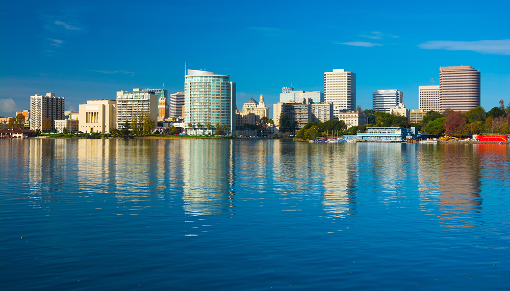 Lake Merritt in Downtown Oakland, CA.