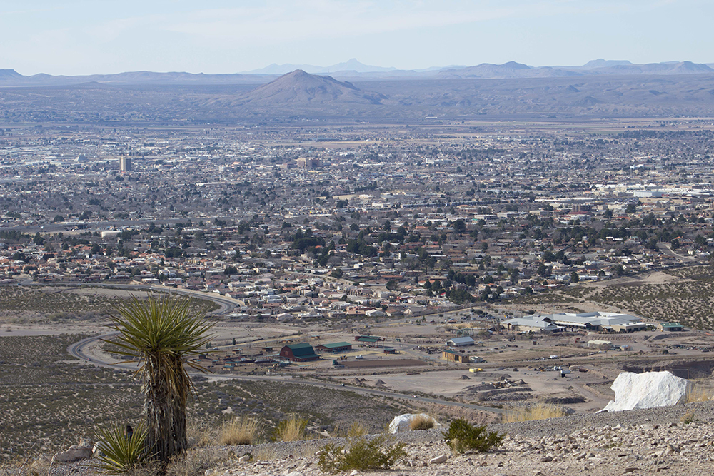 Aerial View of Las Cruces, New Mexico.