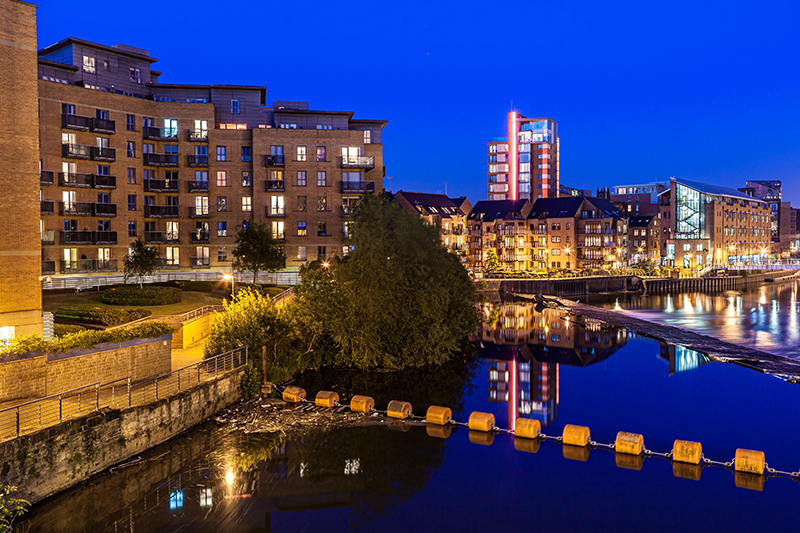 Clarence Dock in Leeds.